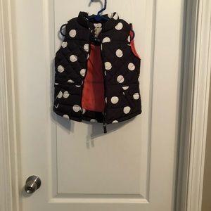 Polka dot girl's vest